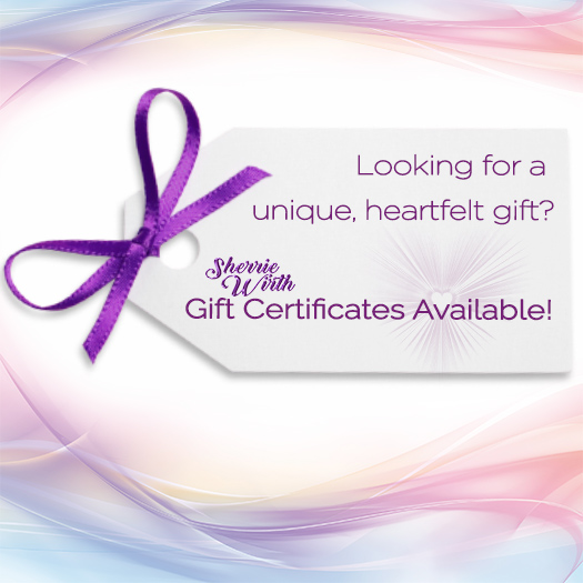 Gift Certificate Available Online for Best Psychic Readings, Life Coach, Intuitive Sessions & Spiritual Mentor in Bend, Oregon - Intuitive Psychic Sherrie Wirth